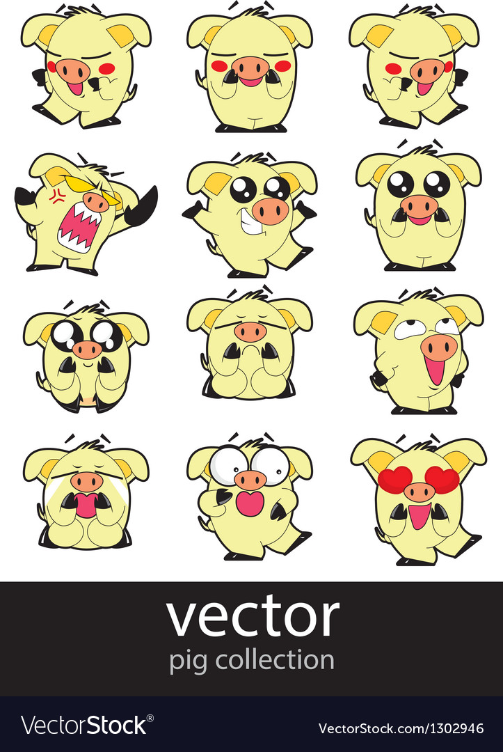 Pic action set vector | Price: 1 Credit (USD $1)