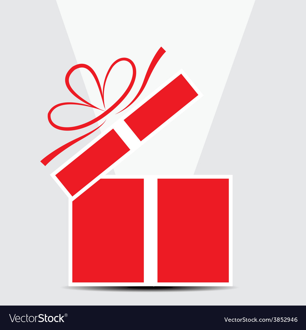 The red gift box on a gray background vector | Price: 1 Credit (USD $1)