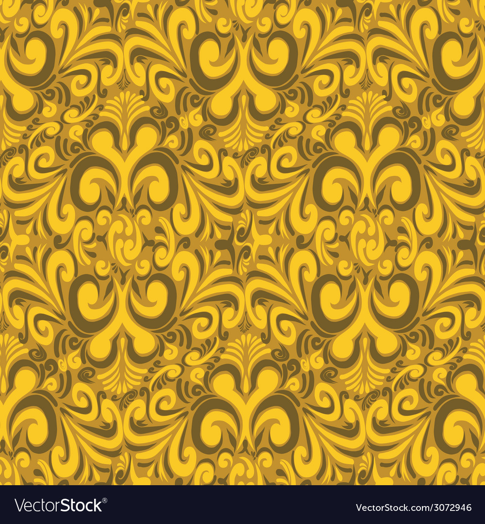 Seamless vintage yellow background vector | Price: 1 Credit (USD $1)