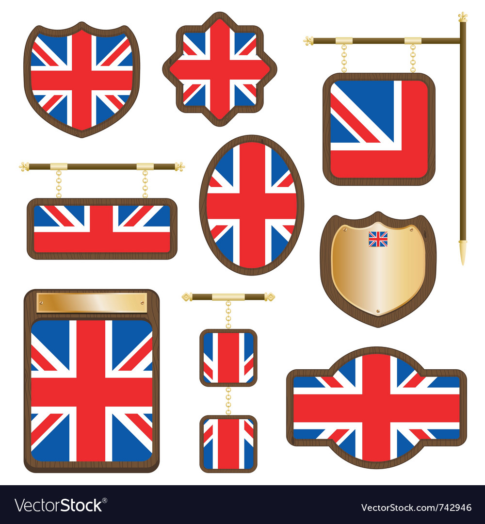 Uk plaques and signs vector | Price: 1 Credit (USD $1)