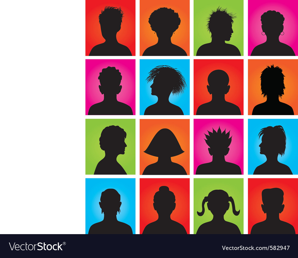 16 anonymous colorful avatars vector | Price: 1 Credit (USD $1)