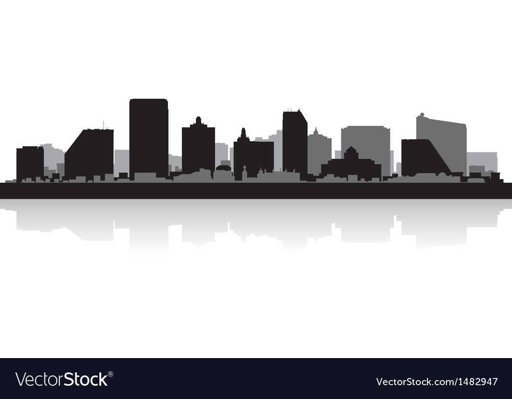 Atlantic city usa skyline silhouette vector | Price: 1 Credit (USD $1)