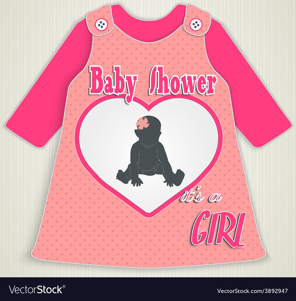 Card in the form of clothing baby shower vector | Price: 1 Credit (USD $1)