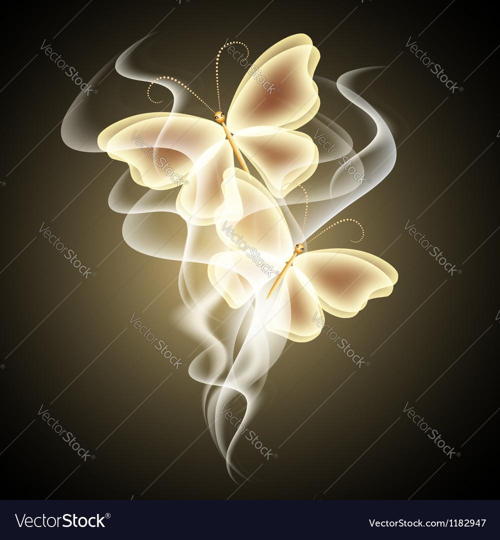 Glowing butterflies vector | Price: 1 Credit (USD $1)