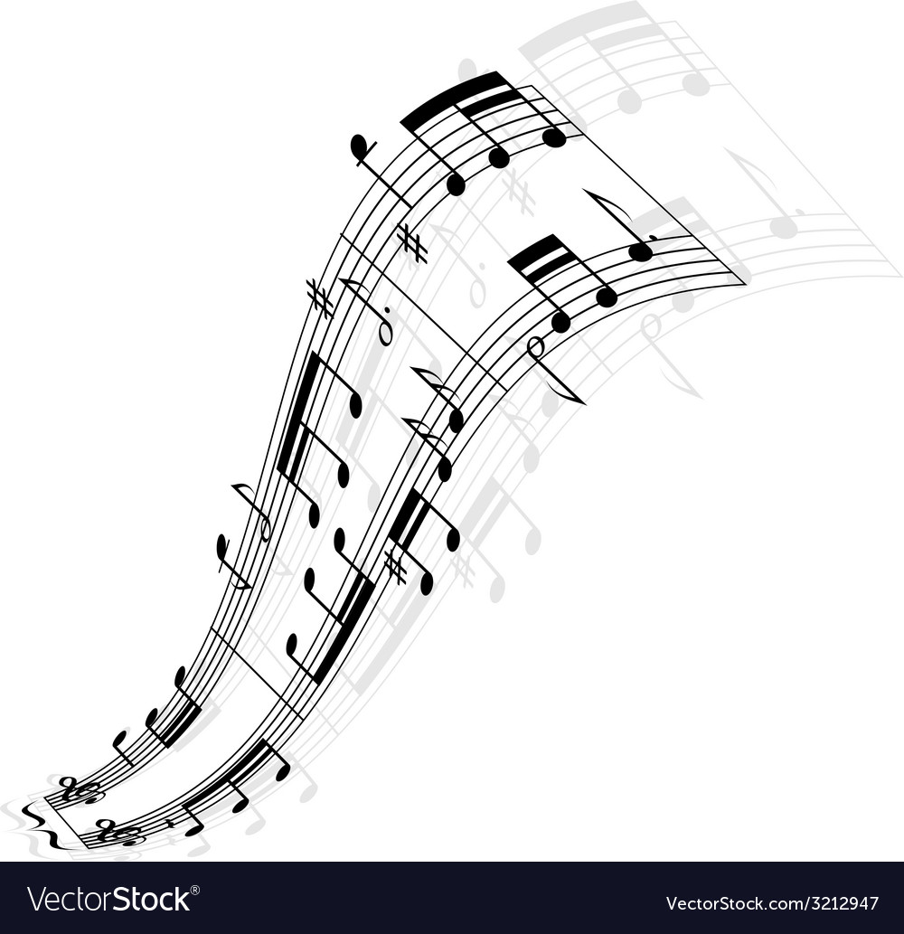 Music notes wave vector   Price: 1 Credit (USD $1)