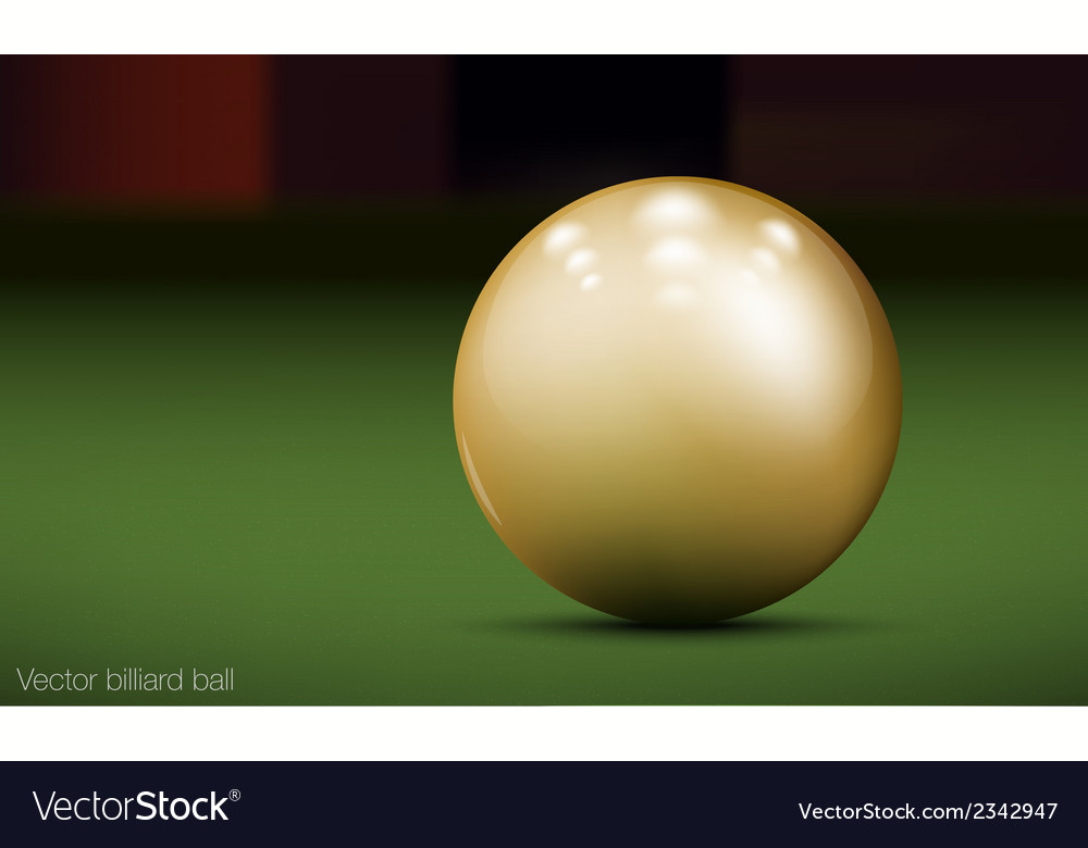 Realistic billiard ball vector | Price: 1 Credit (USD $1)
