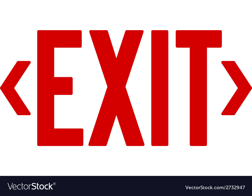 Red exit sign vector | Price: 1 Credit (USD $1)