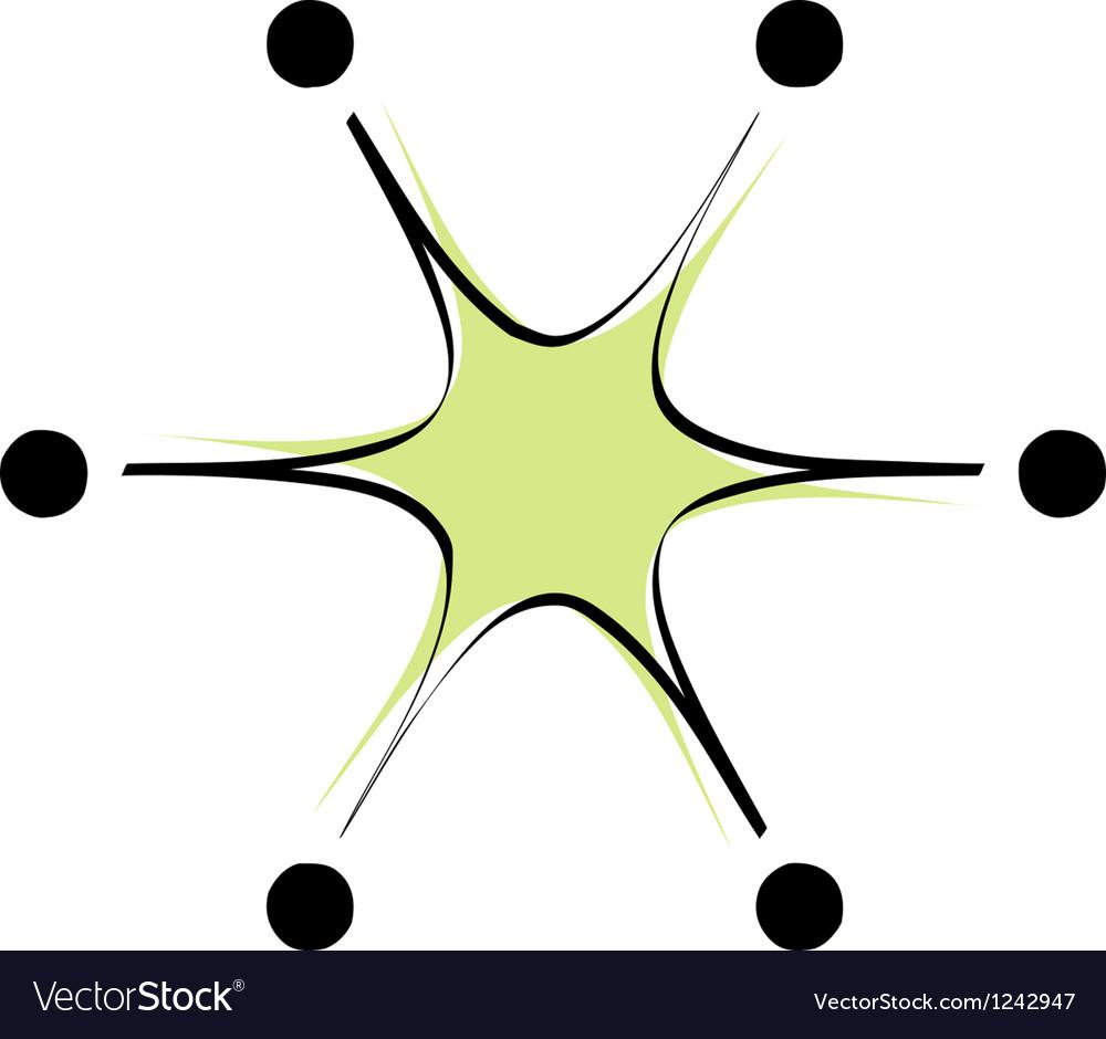 Retro shaped star element vector | Price: 1 Credit (USD $1)
