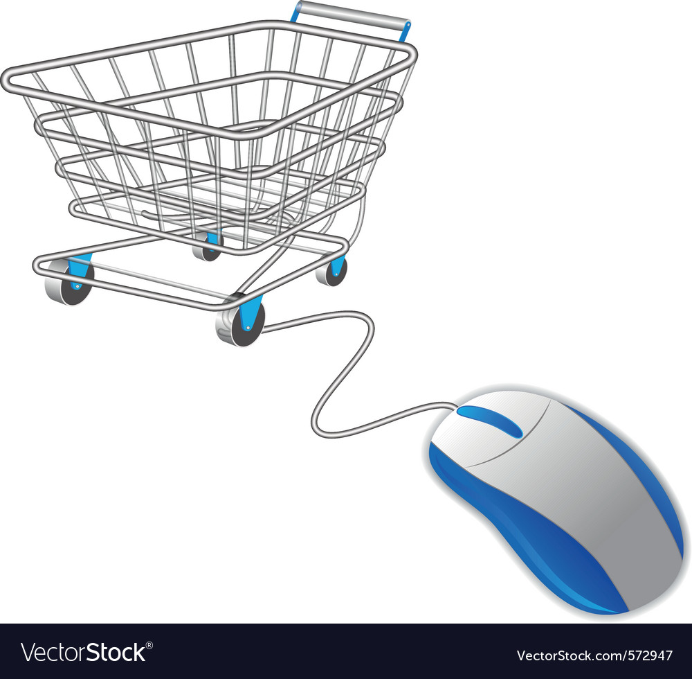 Shopping basket and mouse vector | Price: 1 Credit (USD $1)