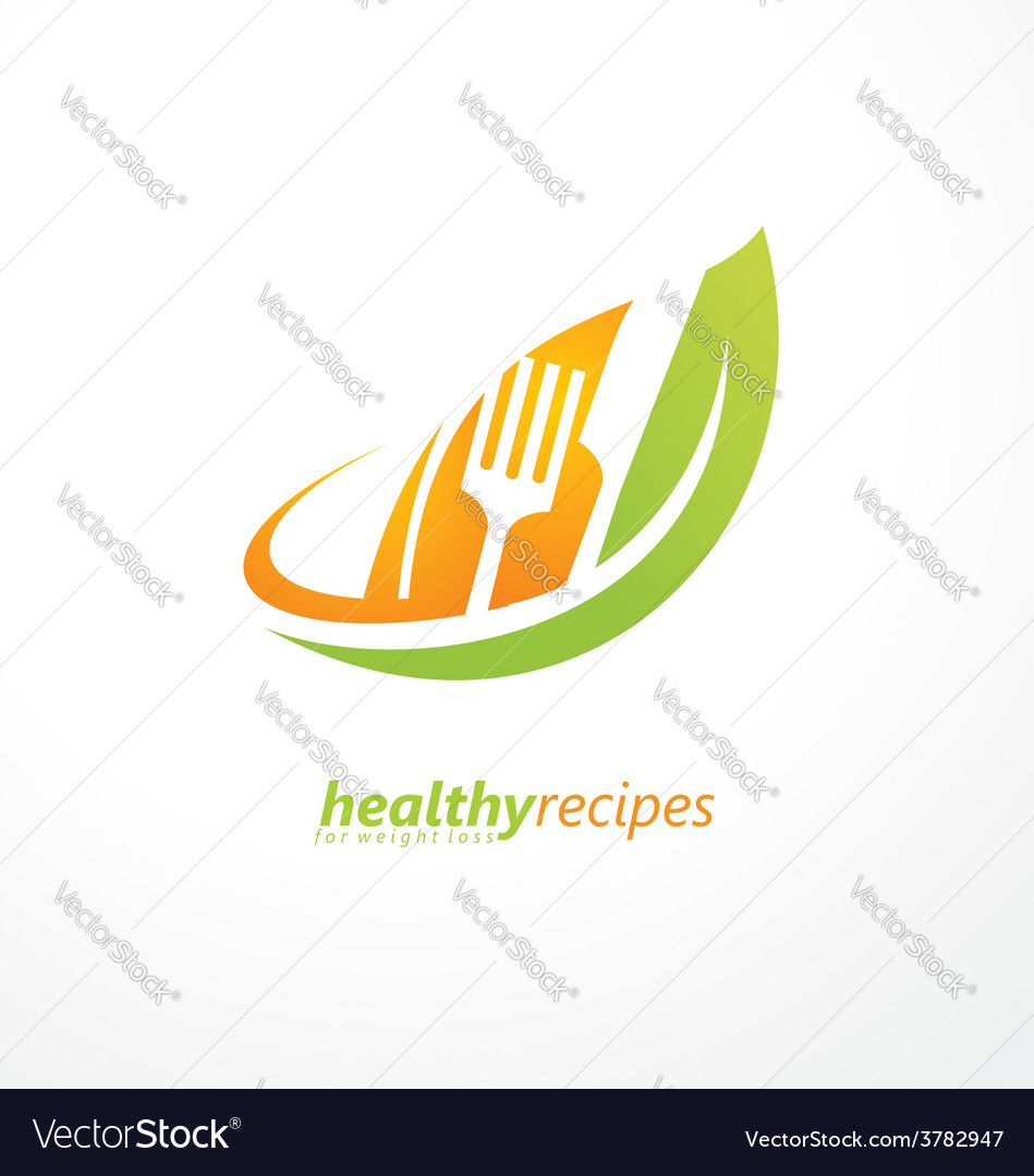 Vegetarian food symbol vector | Price: 1 Credit (USD $1)