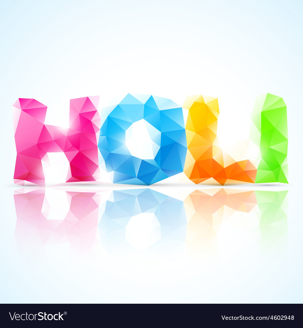 Artistic holi text vector | Price: 1 Credit (USD $1)