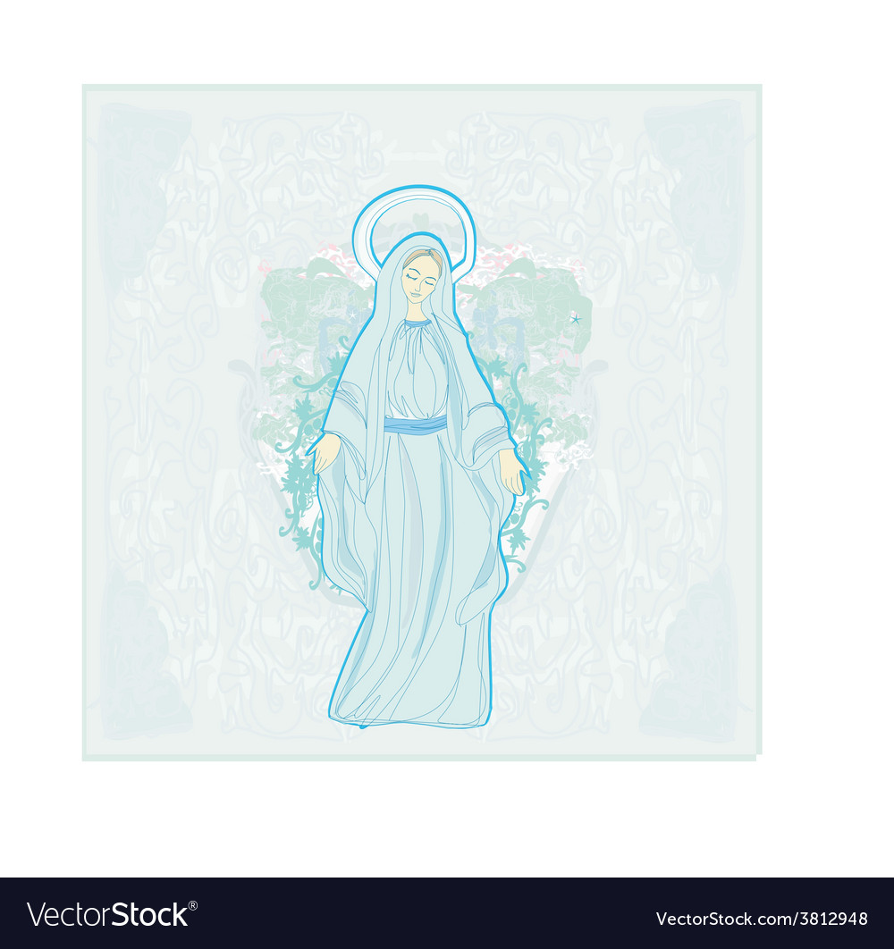 Blessed virgin mary vector | Price: 1 Credit (USD $1)