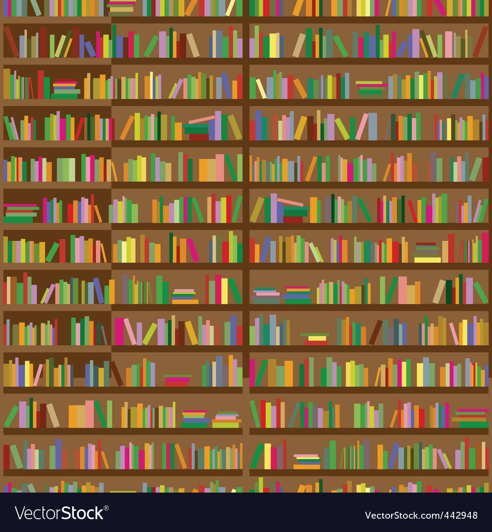 Bookshelves vector