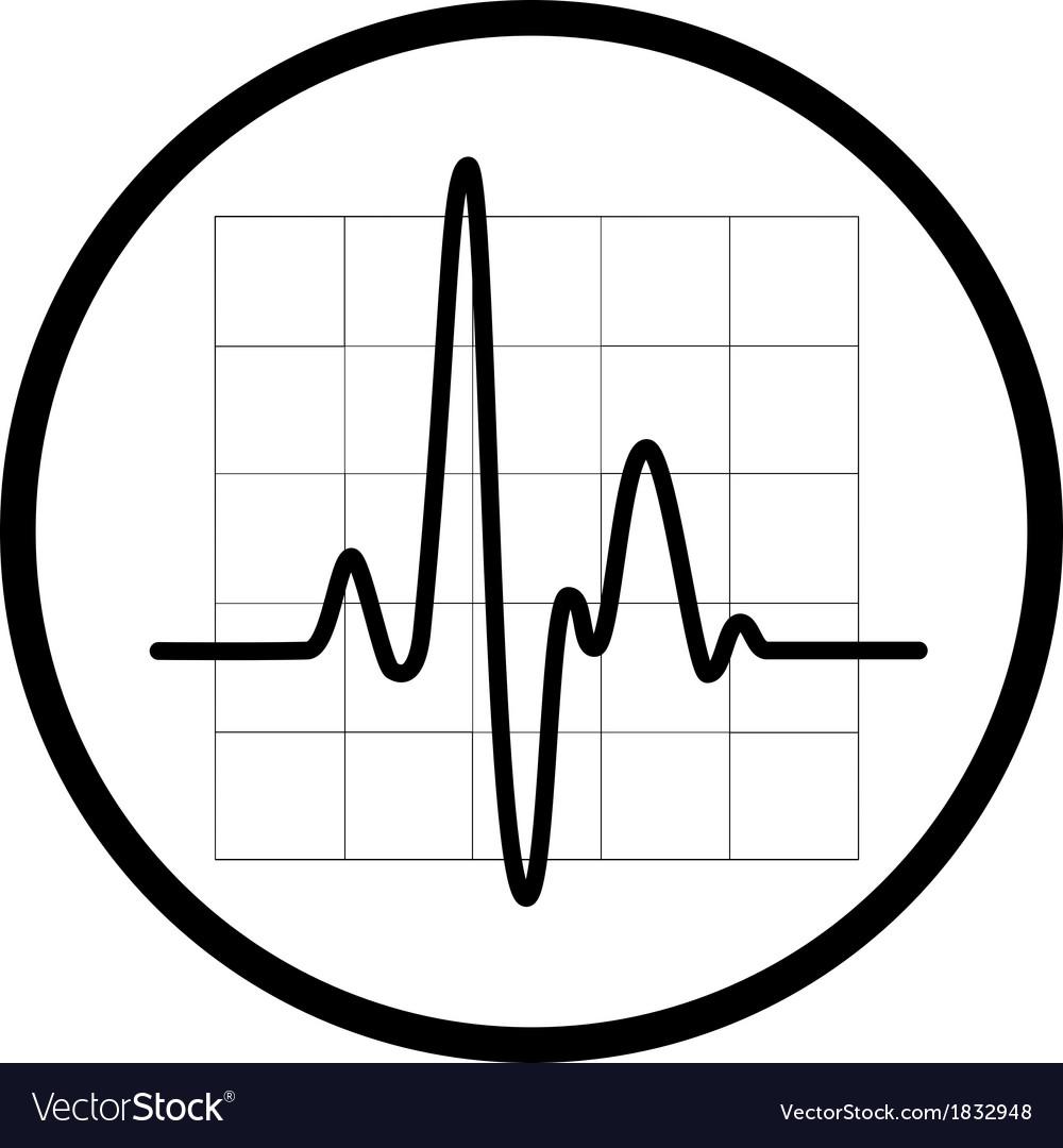 Cardiogram icon vector | Price: 1 Credit (USD $1)