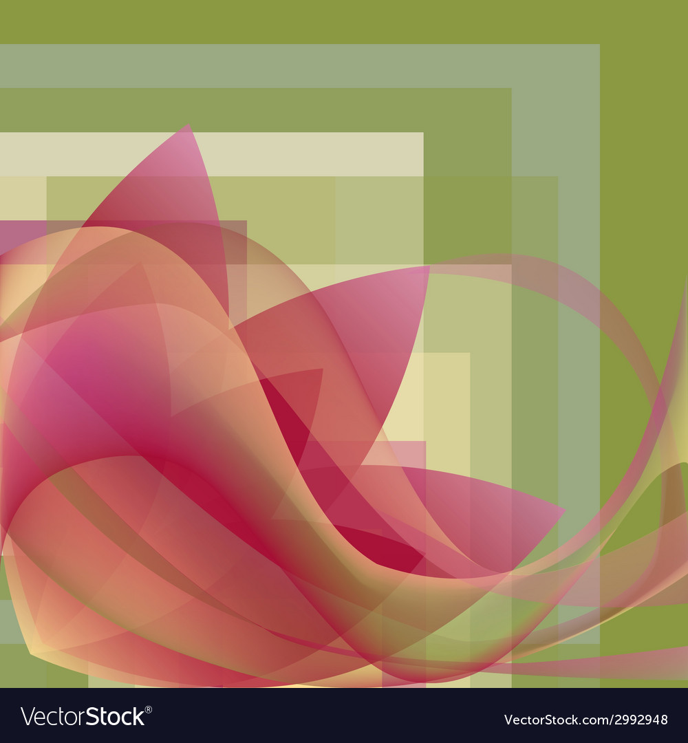 Colorful flower with waves on a square gradient vector | Price: 1 Credit (USD $1)
