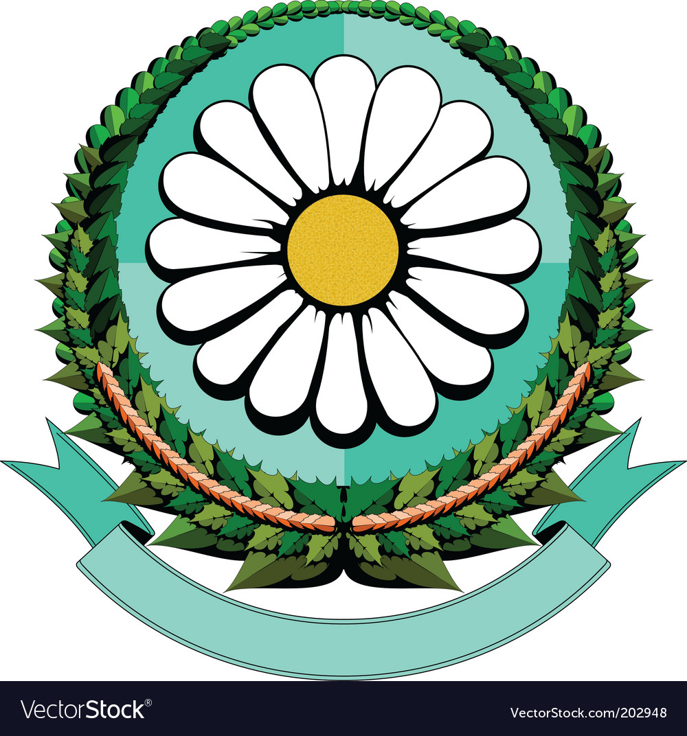 Daisy cartoon logo vector | Price: 1 Credit (USD $1)