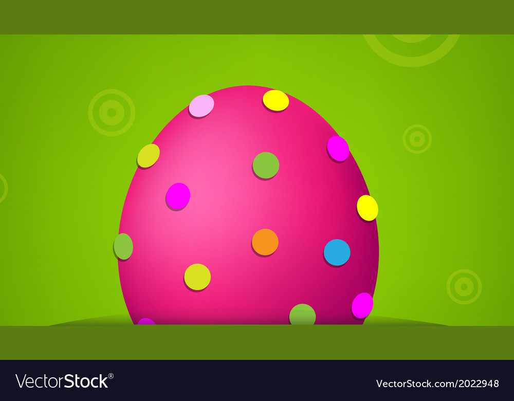 Easter banner with egg vector | Price: 1 Credit (USD $1)