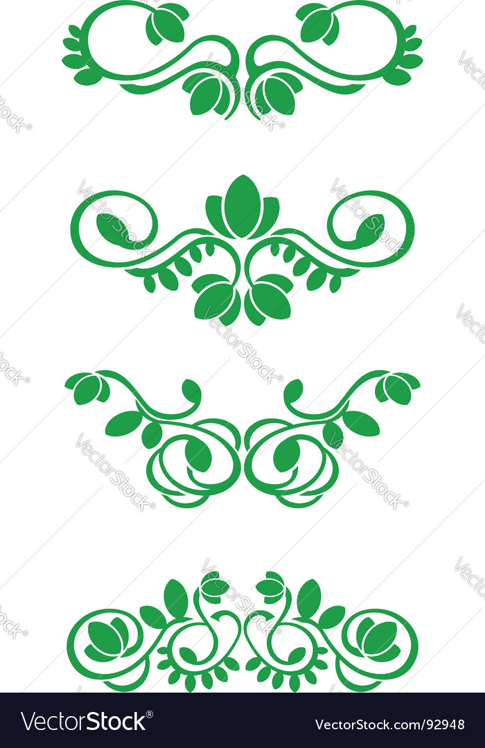 Flourish decorations vector | Price: 1 Credit (USD $1)