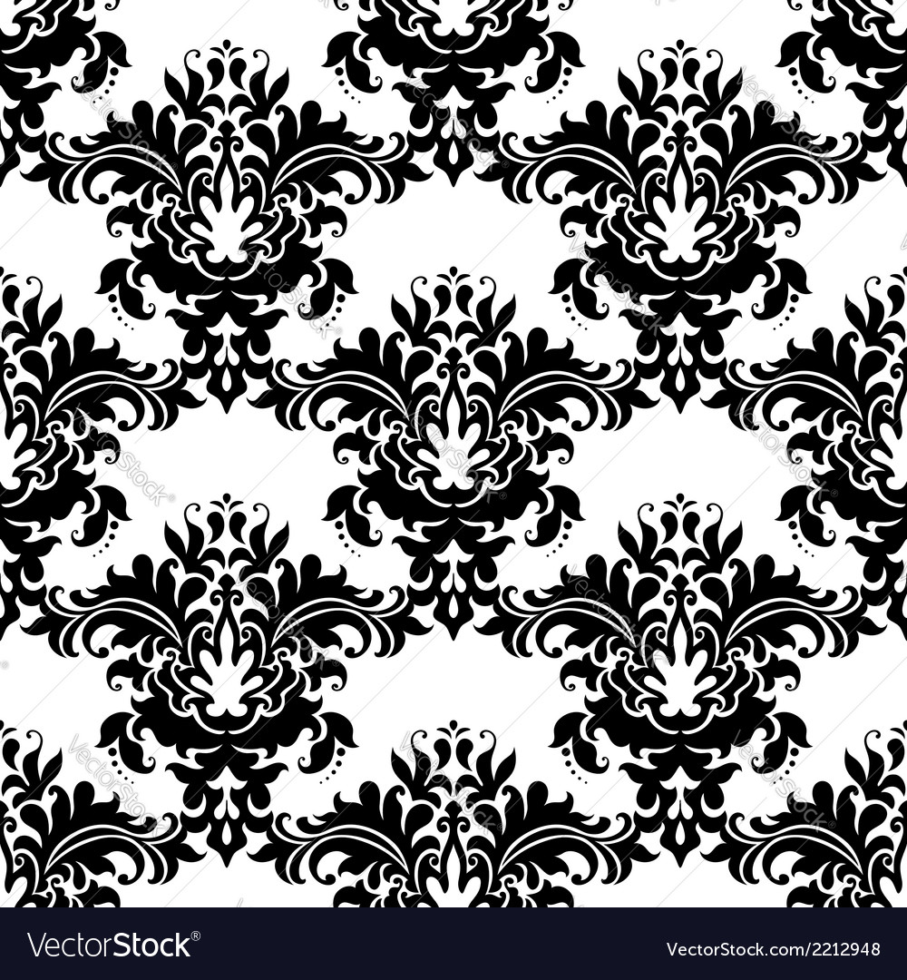 Heavy ornate seamless arabesque pattern vector | Price: 1 Credit (USD $1)