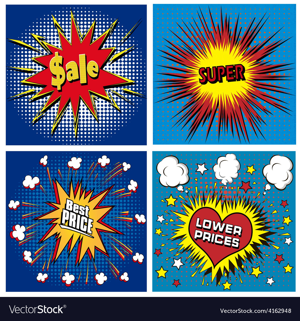 Icons in pop art style on the theme vector   Price: 1 Credit (USD $1)