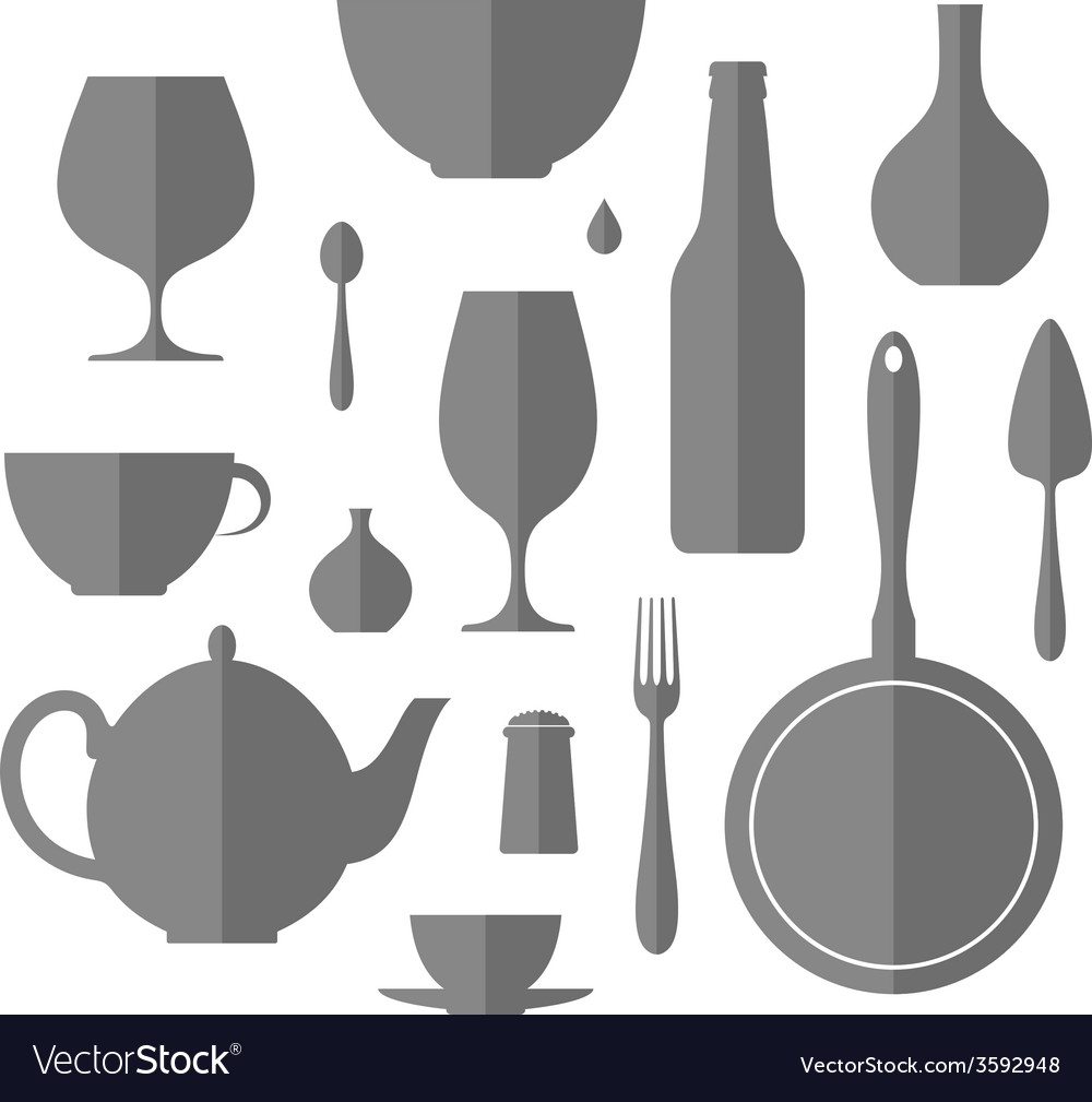 Kitchen utensil icon set vector | Price: 1 Credit (USD $1)
