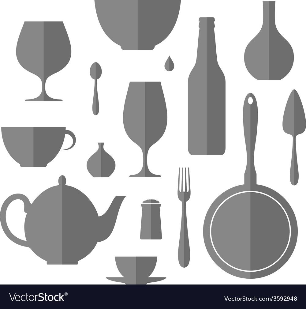 Kitchen utensil icon set vector | Price: 1 Credit (USD $1)