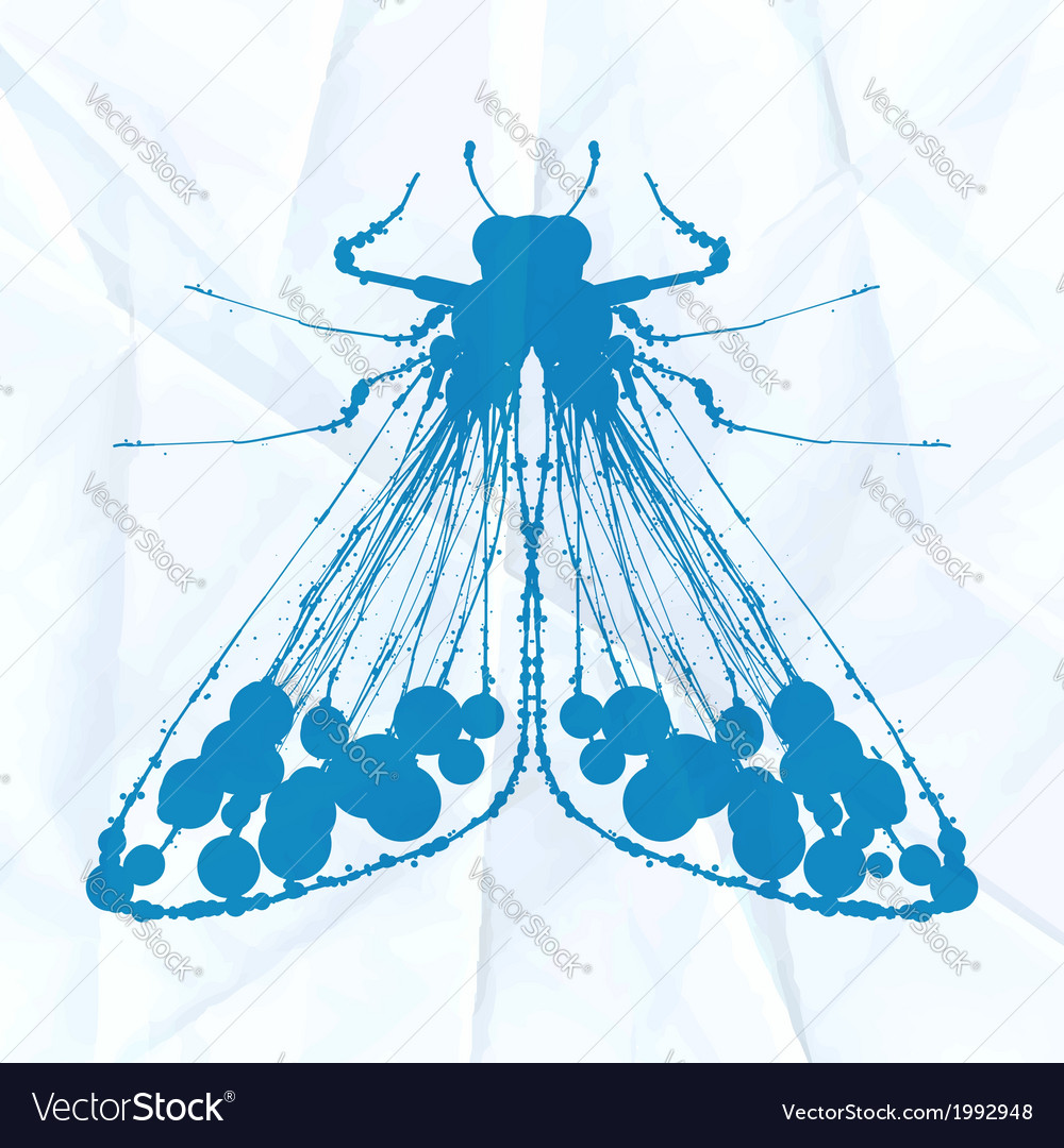 Moth on crumpled paper vector | Price: 1 Credit (USD $1)