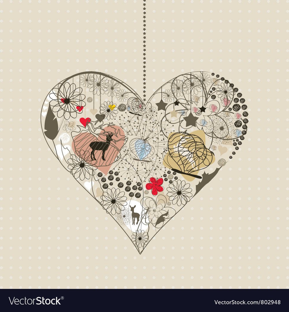 Natural heart vector | Price: 1 Credit (USD $1)
