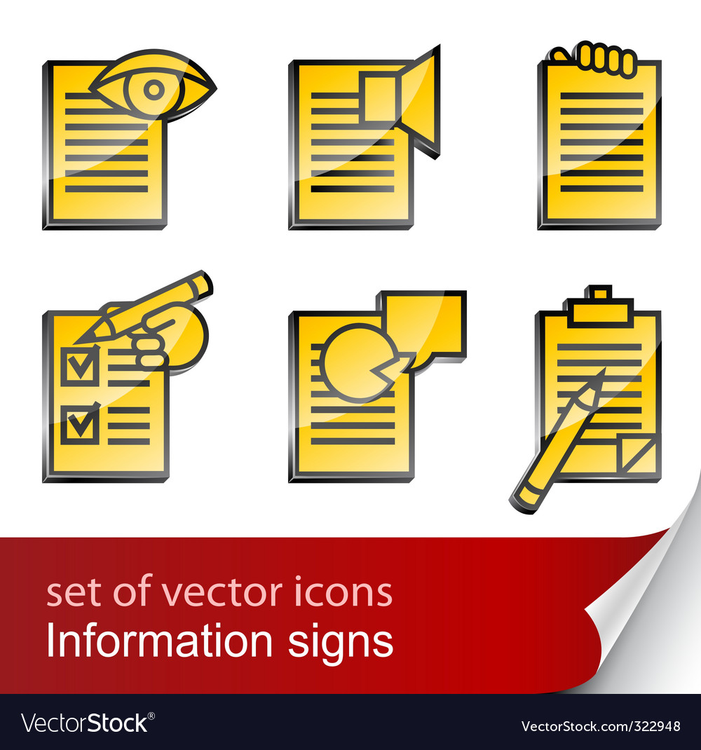 Set informational sign icon vector | Price: 1 Credit (USD $1)