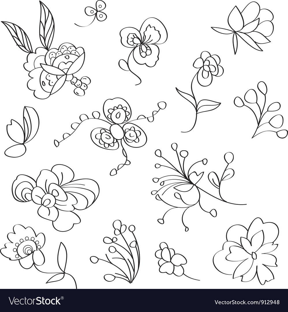 Textile floral element vector | Price: 1 Credit (USD $1)