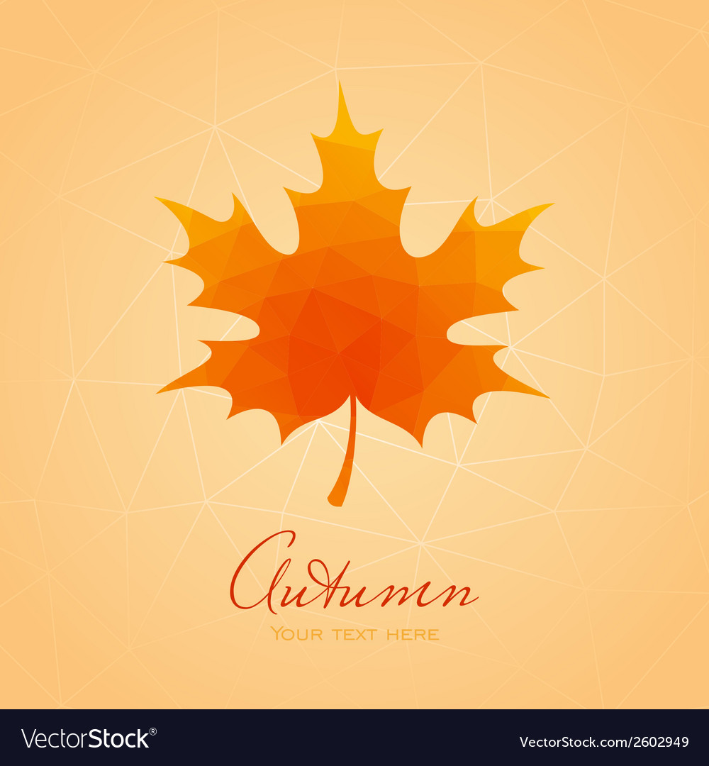 Abstract background with maple leaf vector | Price: 1 Credit (USD $1)