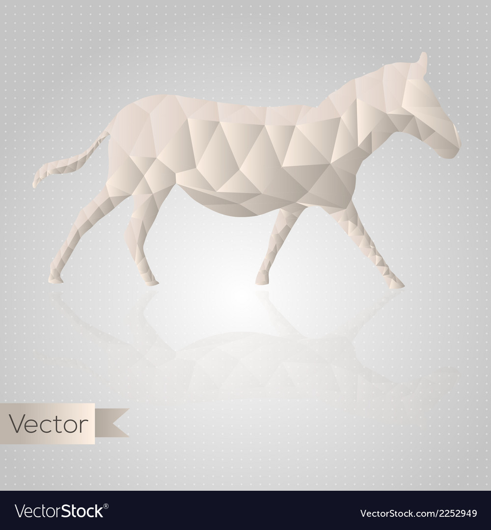 Abstract triangular horse vector | Price: 1 Credit (USD $1)