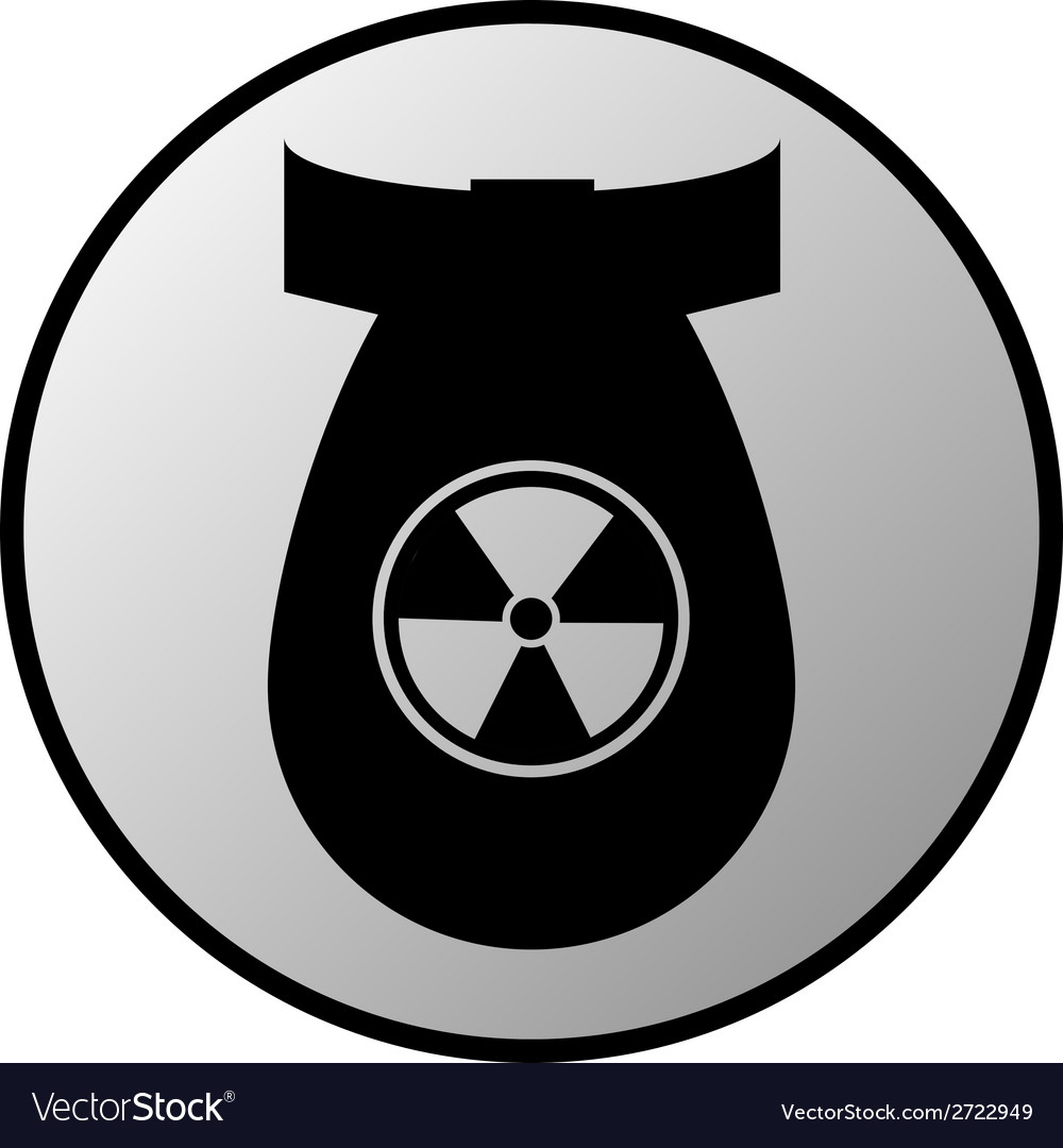 Bomb button vector | Price: 1 Credit (USD $1)