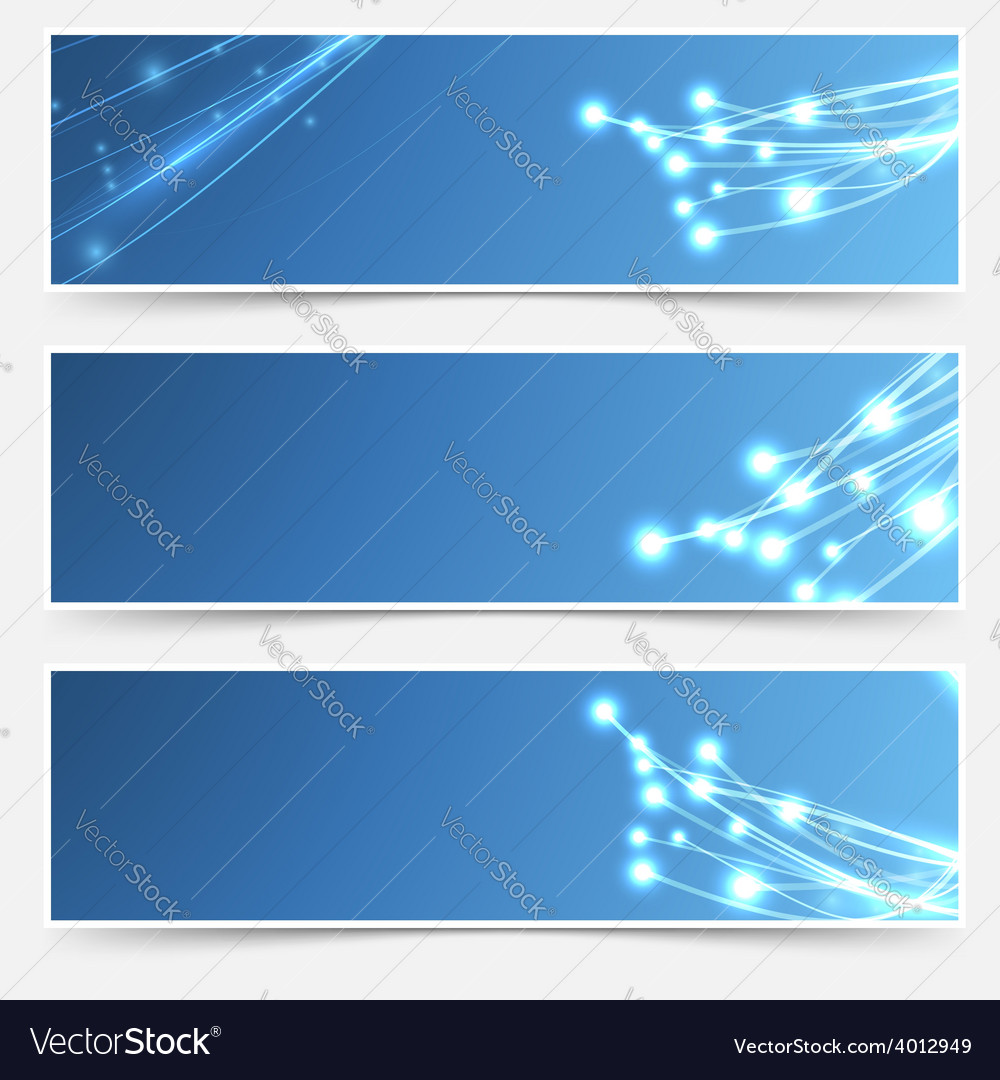 Bright cable sparkle flyer header footer set vector | Price: 1 Credit (USD $1)