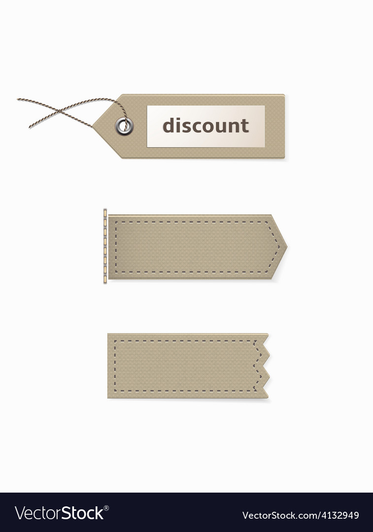 Cardboard tags of different shapes vector | Price: 1 Credit (USD $1)
