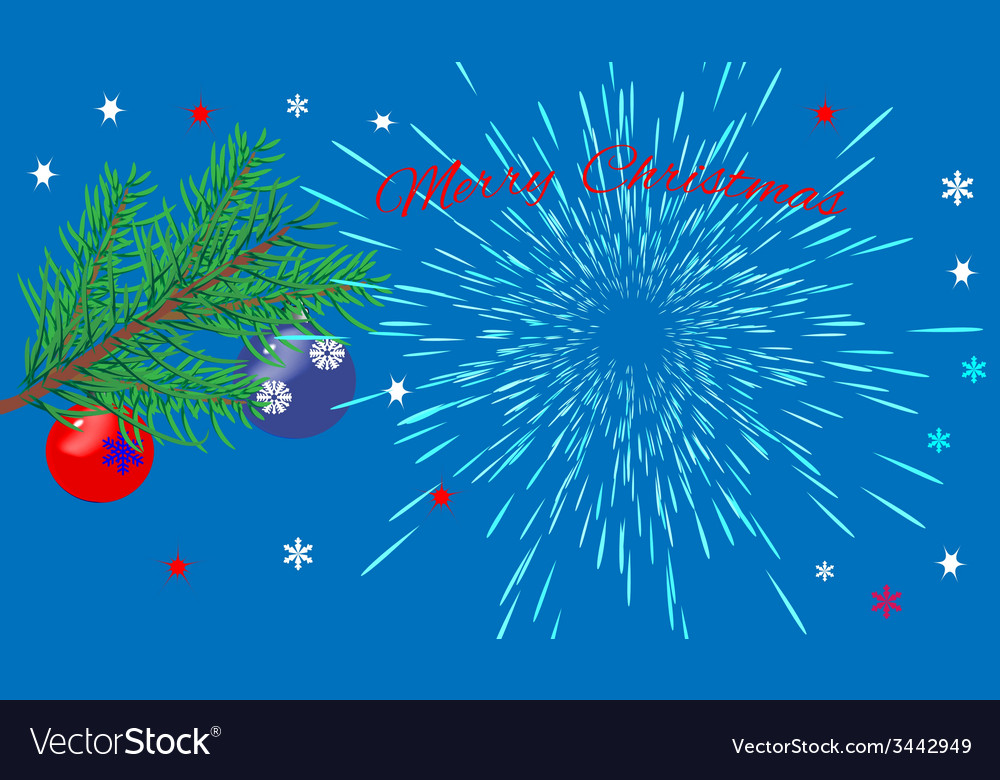 Christmas card with the greeting text vector | Price: 1 Credit (USD $1)