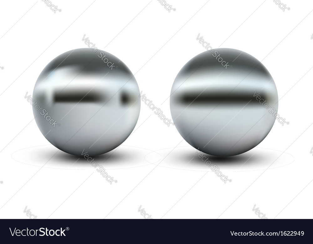 Chrome balls vector | Price: 1 Credit (USD $1)