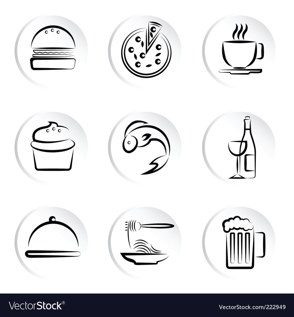 Foods icons vector   Price: 1 Credit (USD $1)