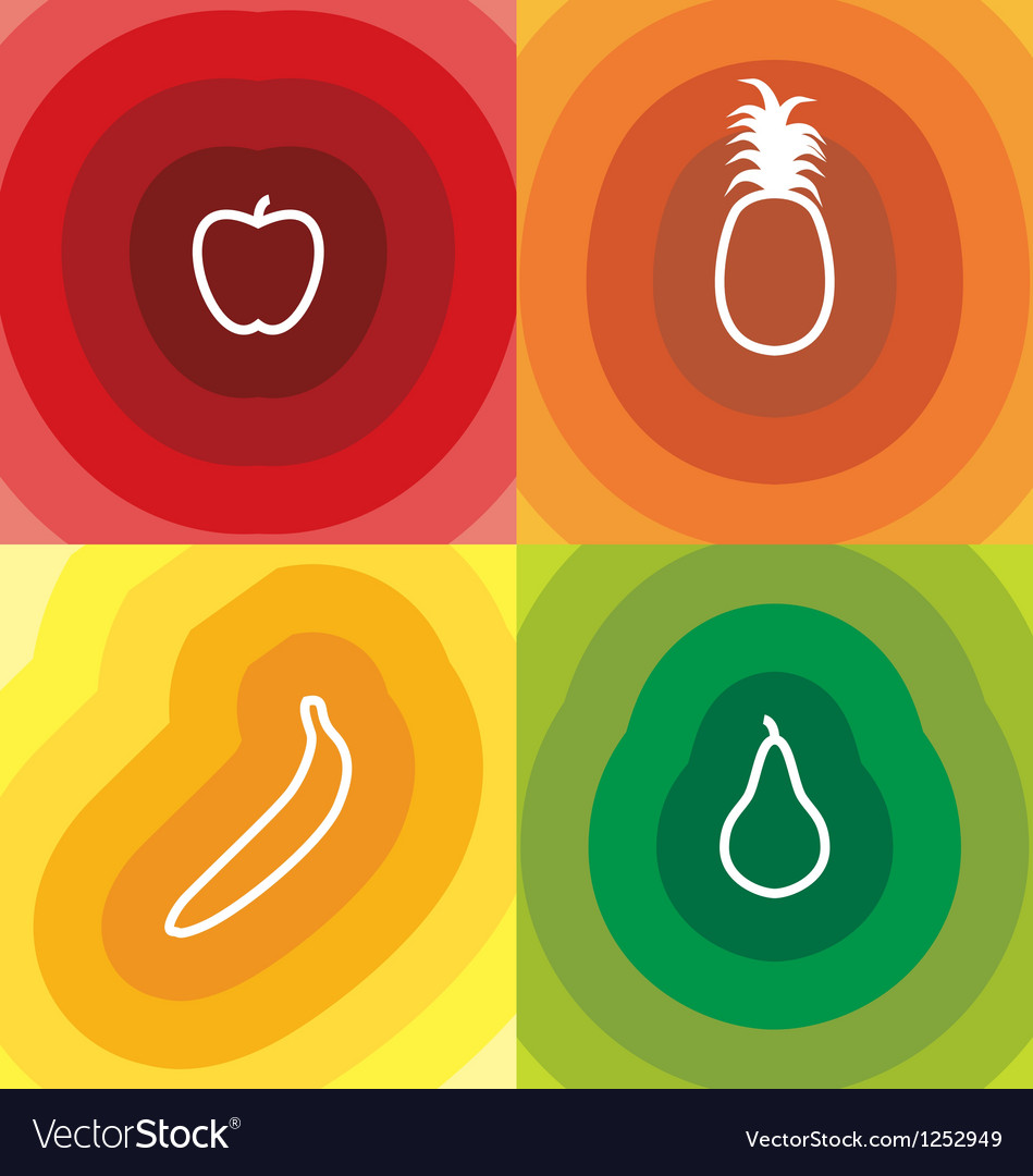 Four fruits vector | Price: 1 Credit (USD $1)