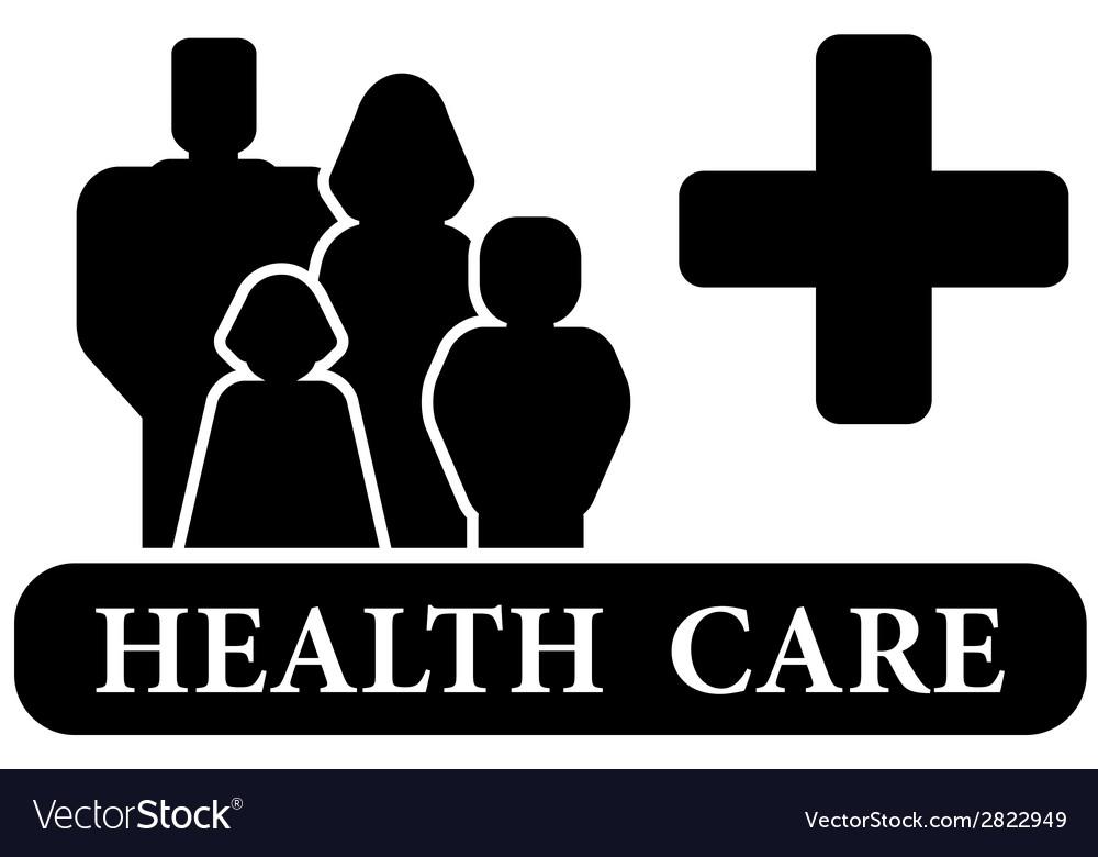 Health care black icon vector | Price: 1 Credit (USD $1)