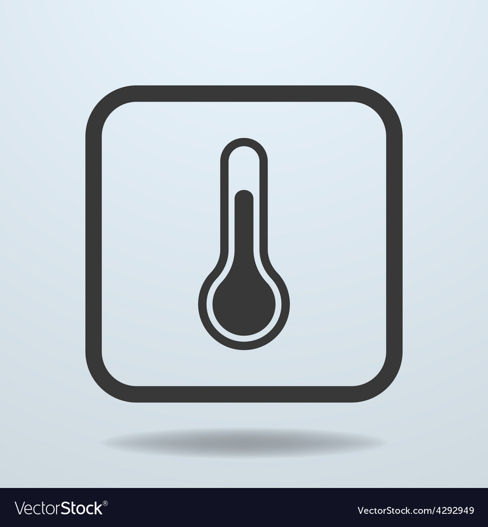 Icon of temperature thermometer sign symbol vector | Price: 1 Credit (USD $1)