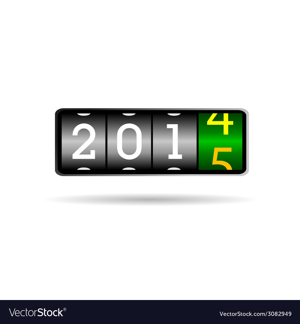 New year counter for 2015 vector | Price: 1 Credit (USD $1)