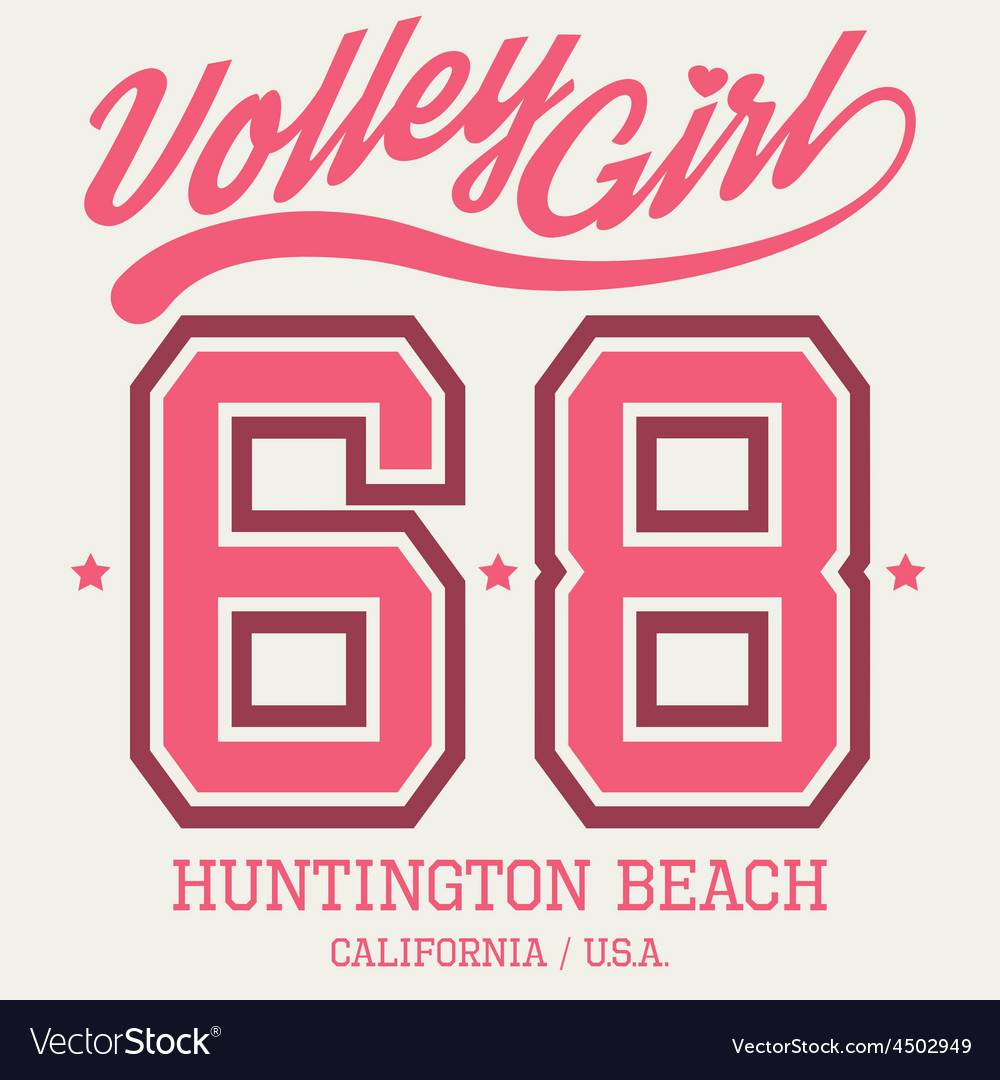 Volley girl t-shirt typography vector | Price: 1 Credit (USD $1)