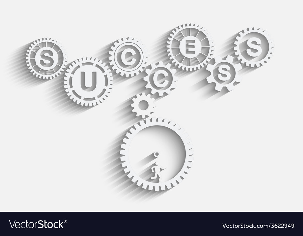 Work to success vector | Price: 1 Credit (USD $1)