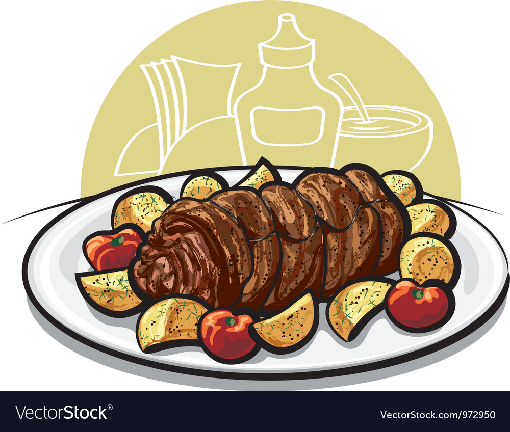 Beef roulade vector | Price: 3 Credit (USD $3)