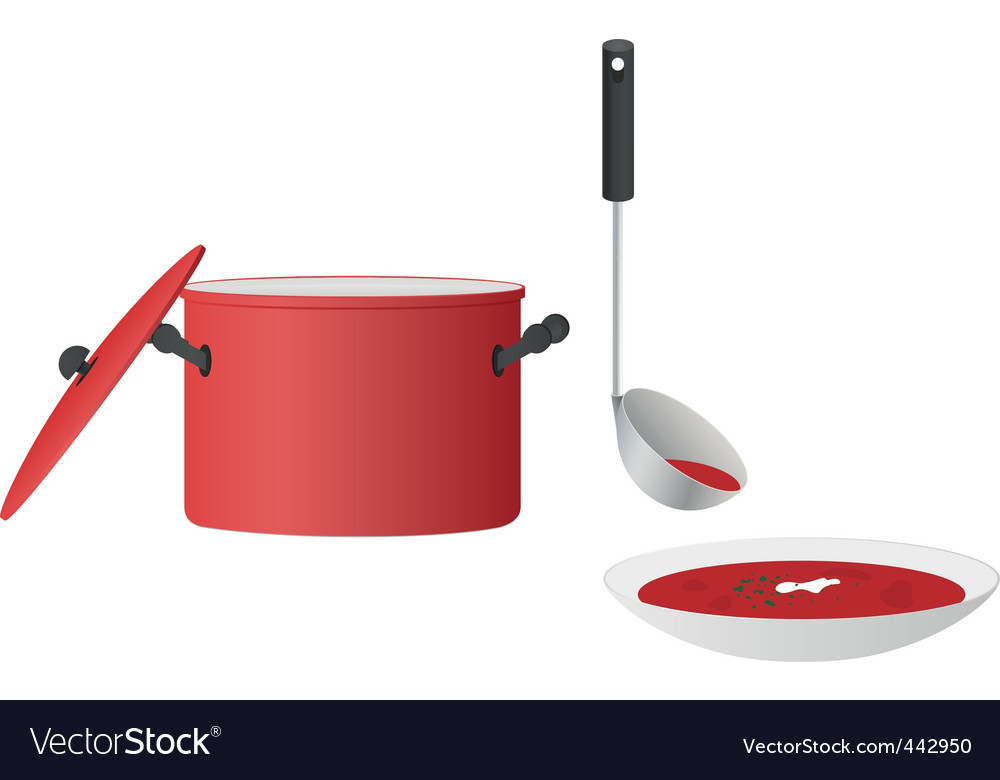Bowl of soup vector | Price: 1 Credit (USD $1)