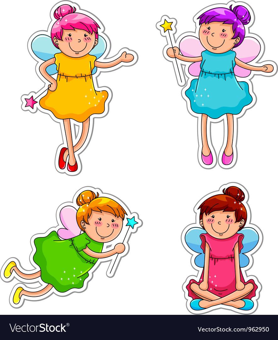 Cute fairies vector | Price: 3 Credit (USD $3)