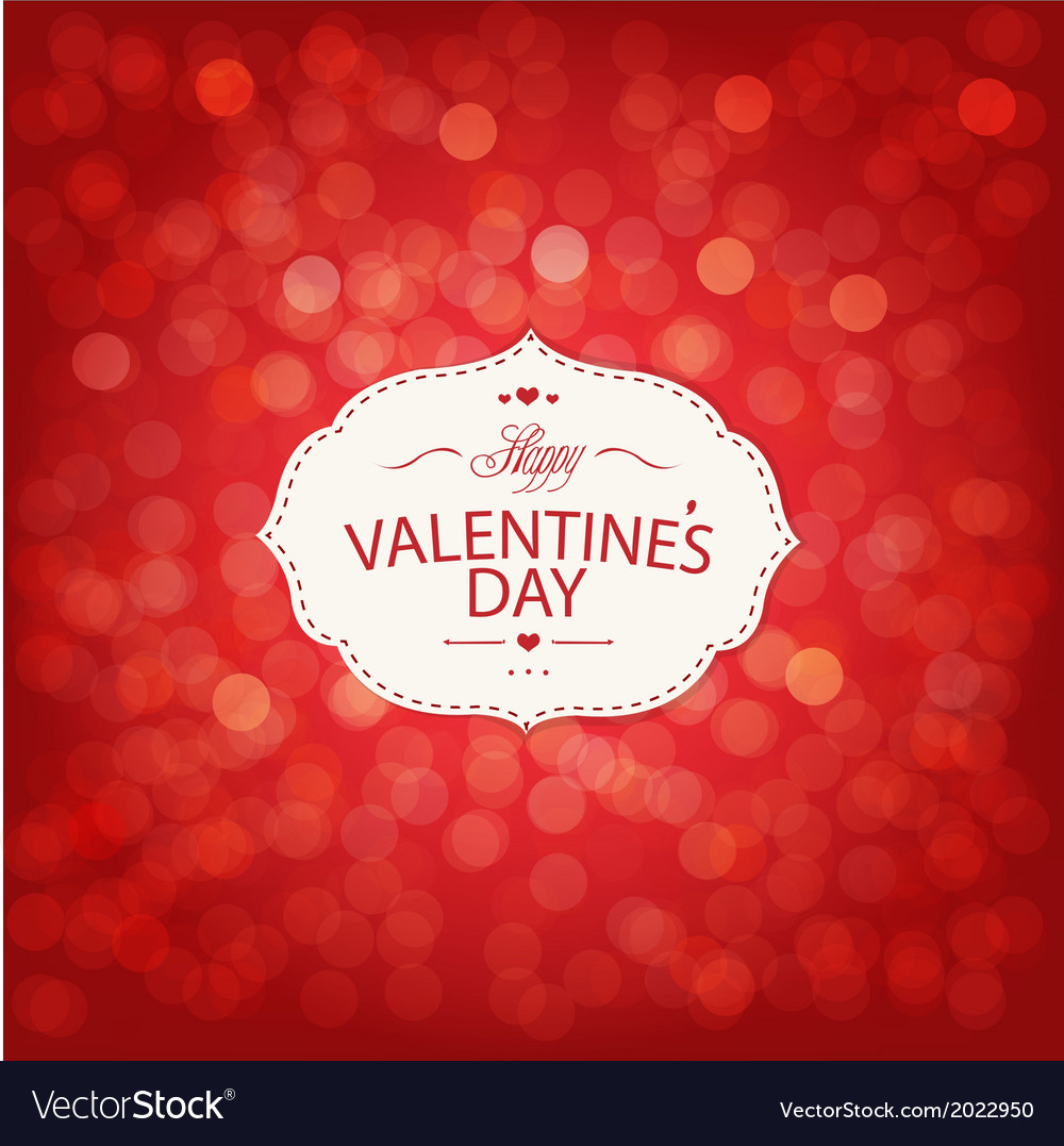 Red valentines day card with bokeh vector | Price: 1 Credit (USD $1)