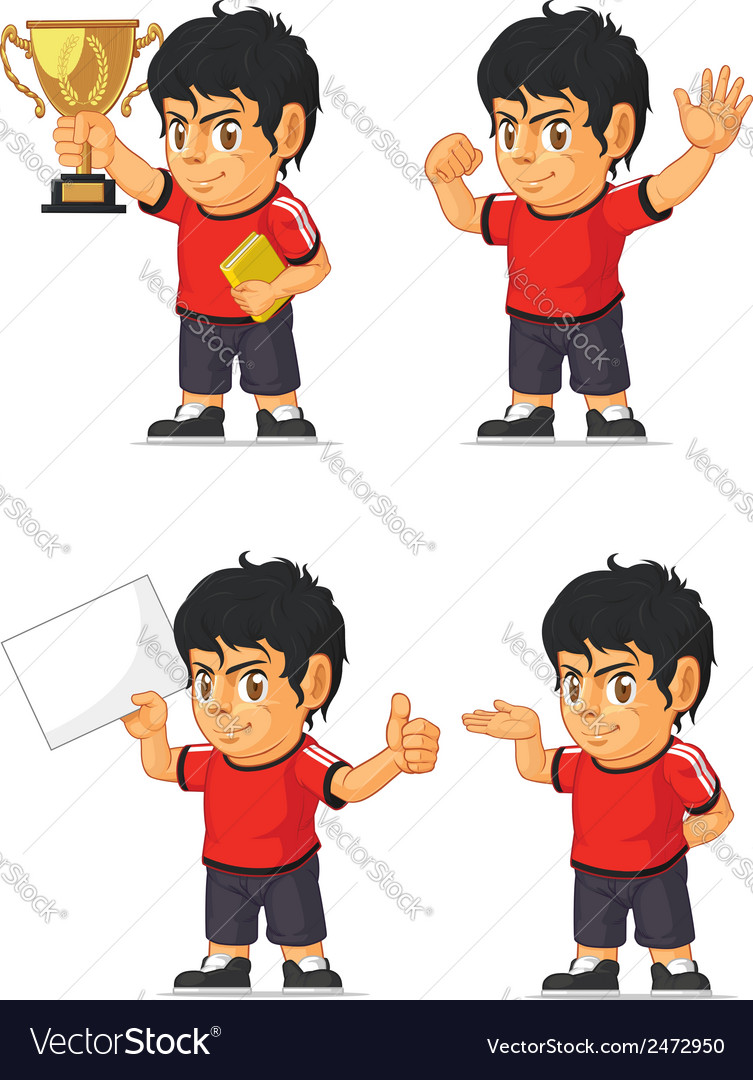 Soccer boy customizable mascot 2 vector | Price: 1 Credit (USD $1)