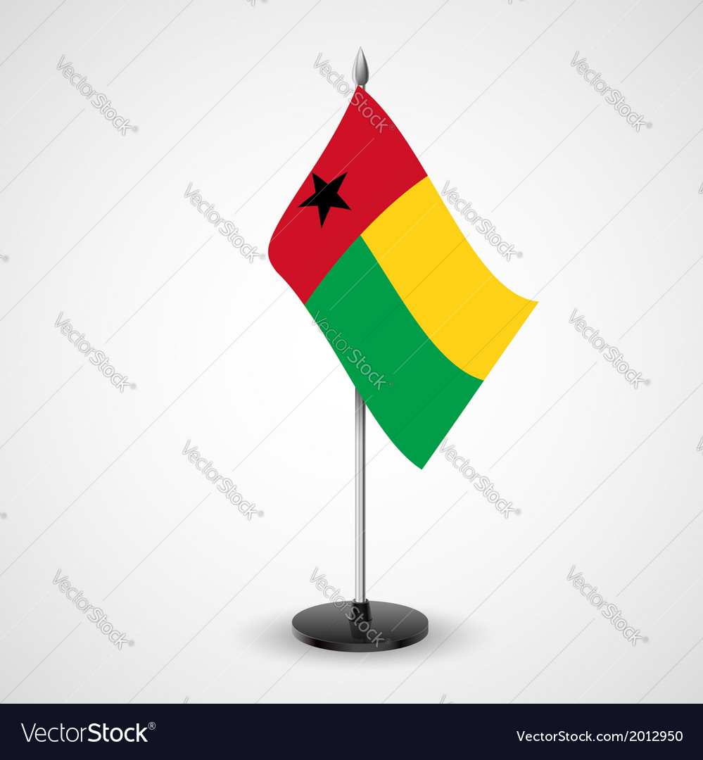 Table flag of guineabissau vector | Price: 1 Credit (USD $1)